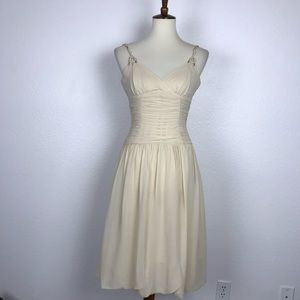BCBG Max Azria Silk Bubble Hem Dress
